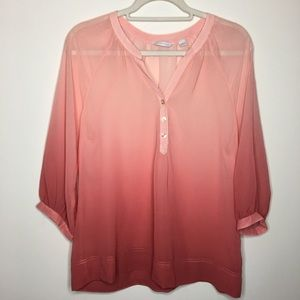 New York & Company sheer blouse